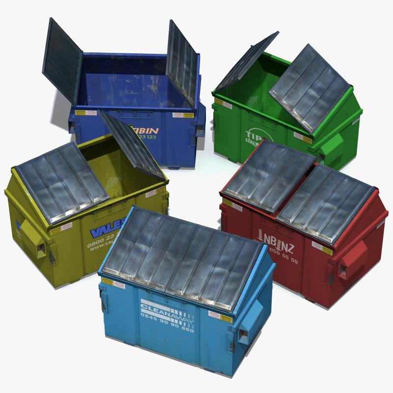 3d model dumpster