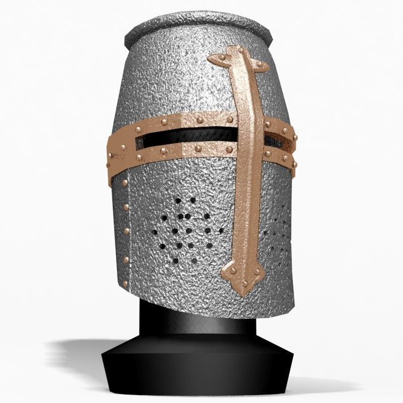 3d helm templar knight