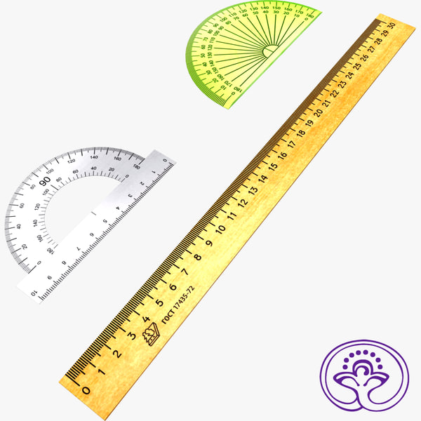 3d measuring rulers model