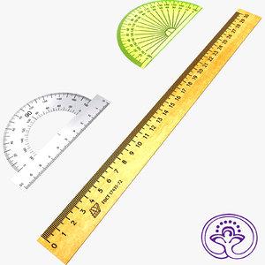 3d measuring rulers model