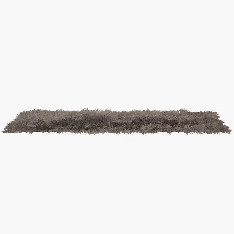 carpet hair fur 3d model