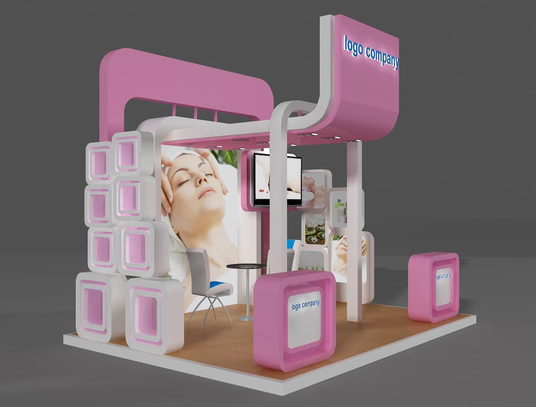 Exhibition Stand Design 3d Max : Stand exhibition booth d max