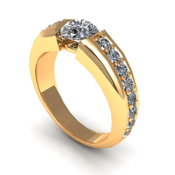 diamond jewelry 3d 3dm