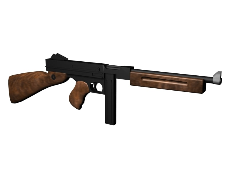 3d model of tommy gun