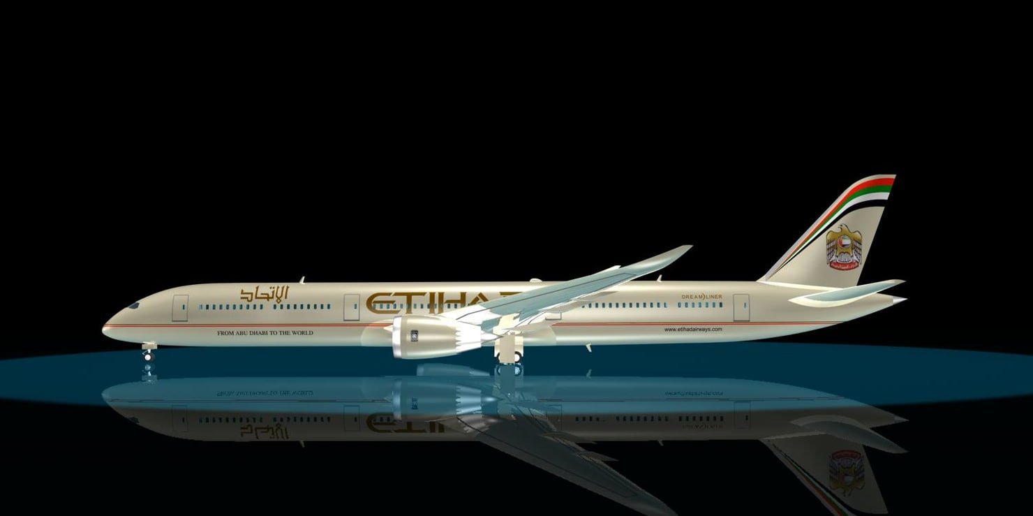 3d etihad 787-10 dreamliner 787 model