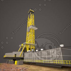 3d oil drill tower model
