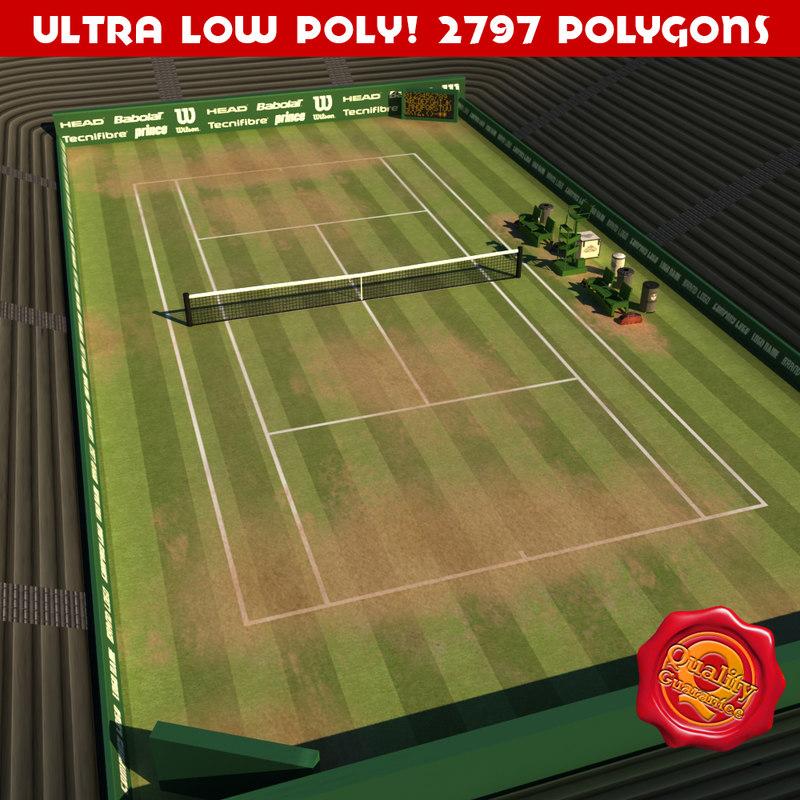 3d tennis court