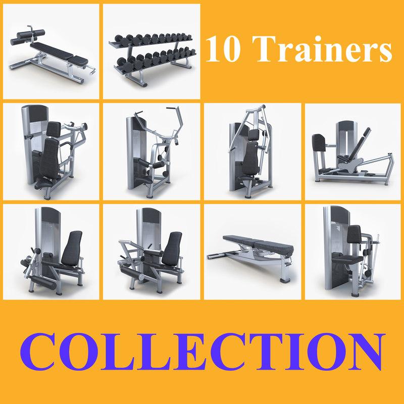 3d equipment fitness model