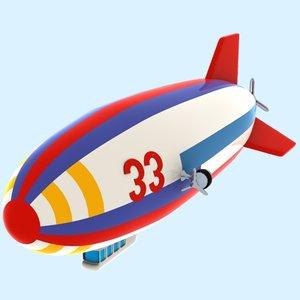 3dsmax cartoon airship toon