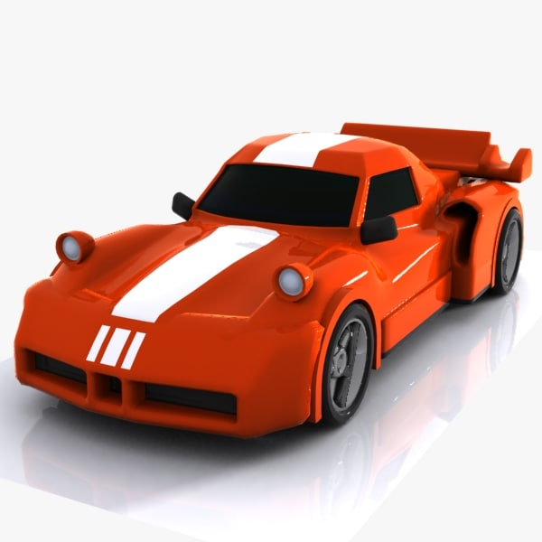 3d cartoon sports car model