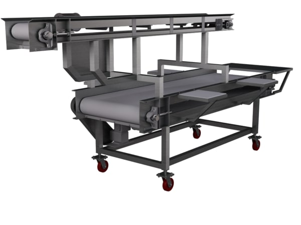 inspection conveyor 3d c4d