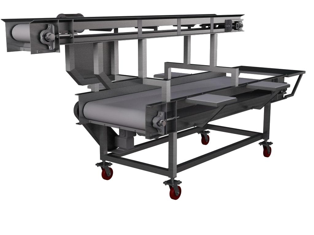 inspection conveyor 3d c4d