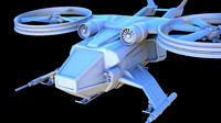 3d battle space ship model