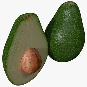 avocado set 3d c4d