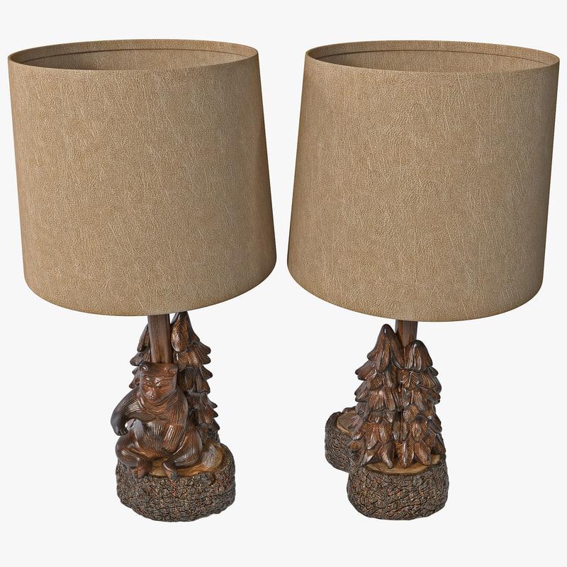 bear tree accent lamp max