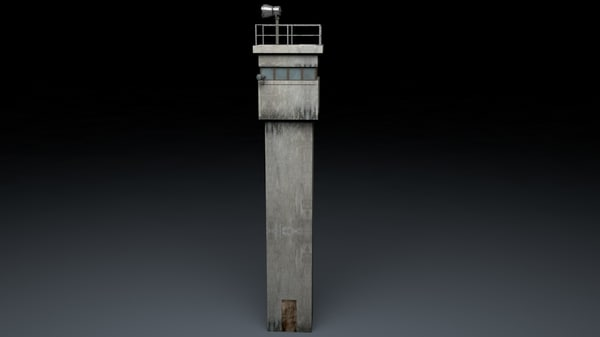 c4d berlin wall guard tower