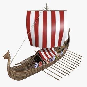 3d viking ship drakkar