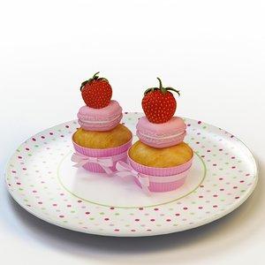 3d model cupcake 27