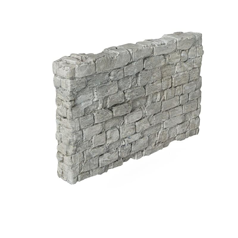3d debris wall model