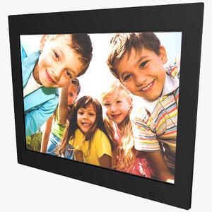 3d model digital photo frame filemate
