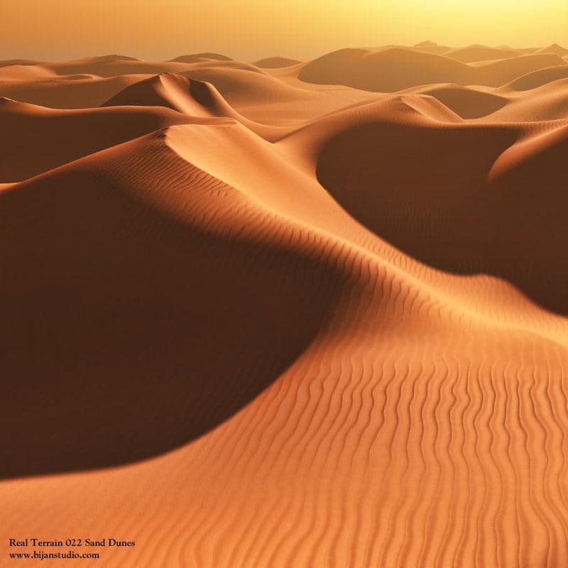 3d sand dunes vue
