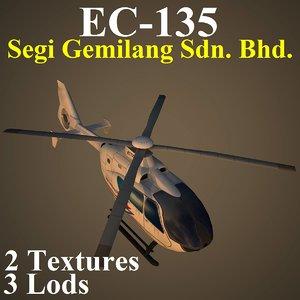 eurocopter pvt 3d model