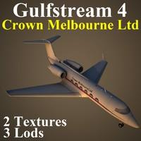 gulfstream 4 pv4 3d max
