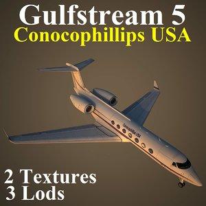 3d model gulfstream 5 usa