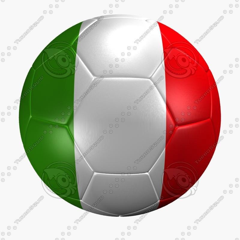 soccer ball italy flag max