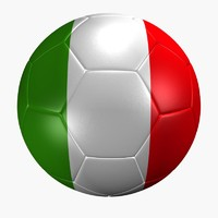 soccer ball italy flag max