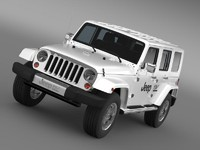 3d model jeep wrangler electric vehicle