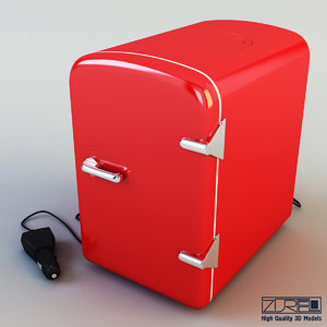 3d model mini fridge
