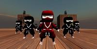 obj cartoon mini ninja