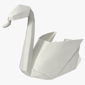 3ds origami swan