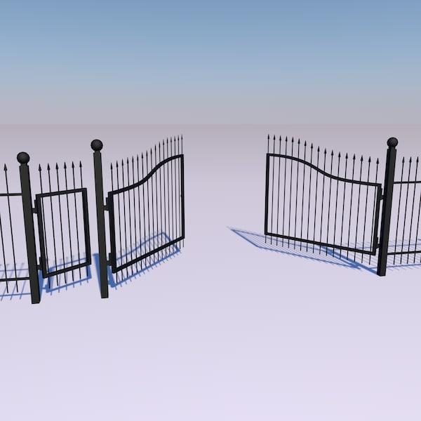 obj metal fence