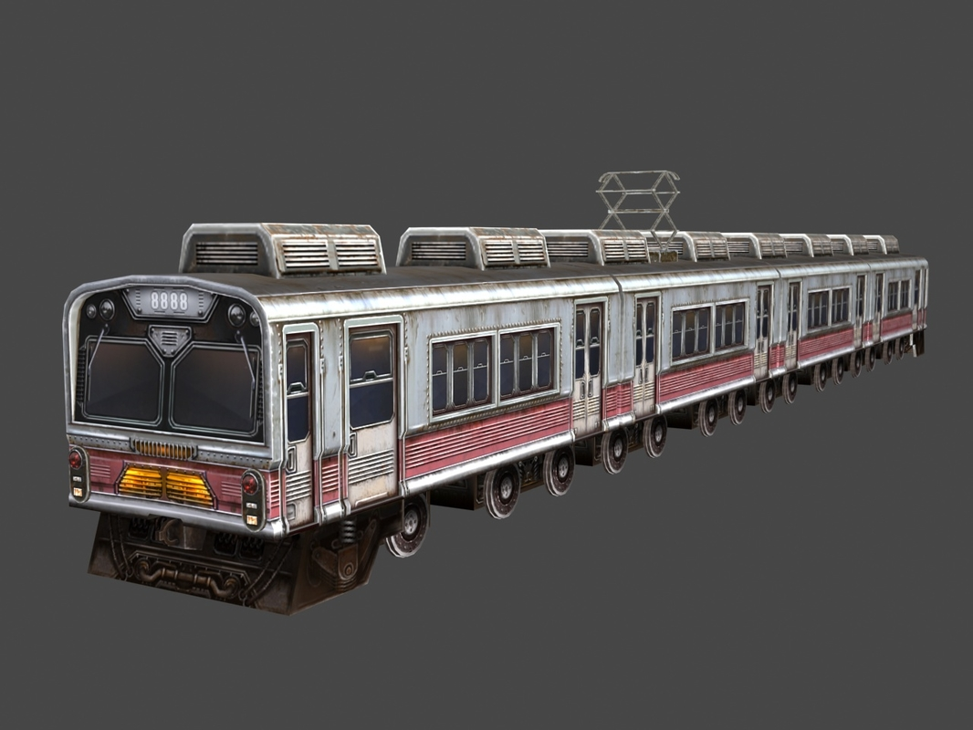 hand painted train 3d 3ds