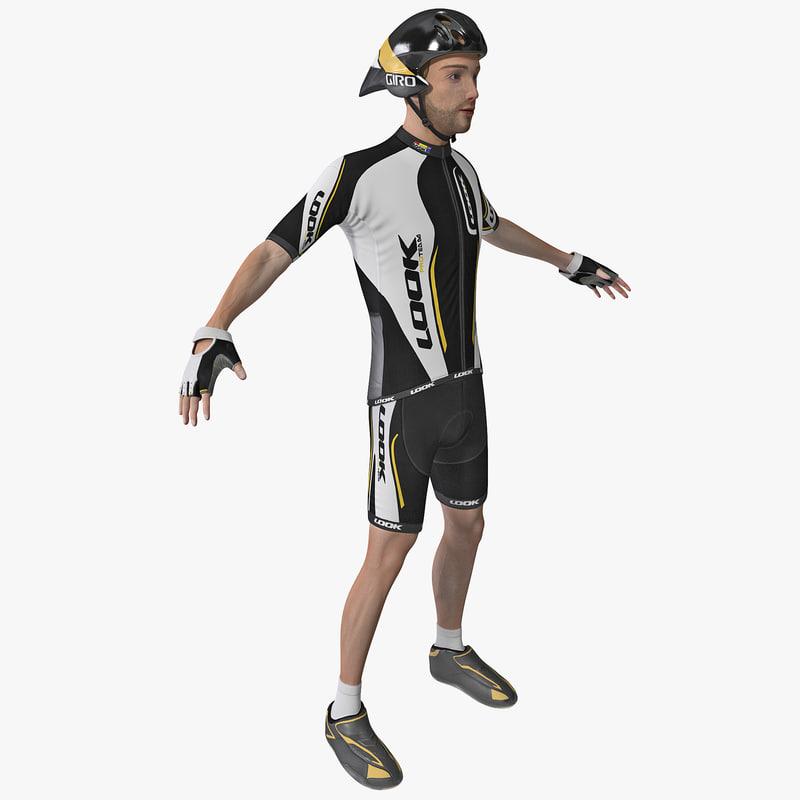 3d model of racing cyclist