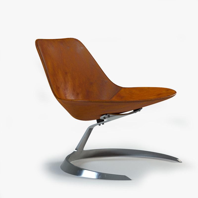 3d model scimitar chair