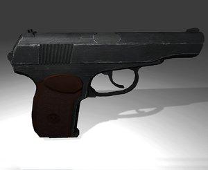3d model makarov pistol 9x18mm