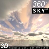 Sky 3D Clouded 005