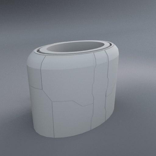 liquid storage tank 3d model
