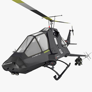stealth helicopter 3d model