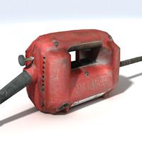 concrete vibrator motor 3d model