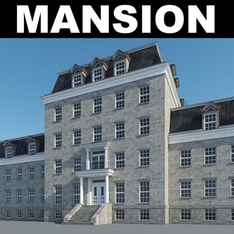 mansion hotel realistic 3d max