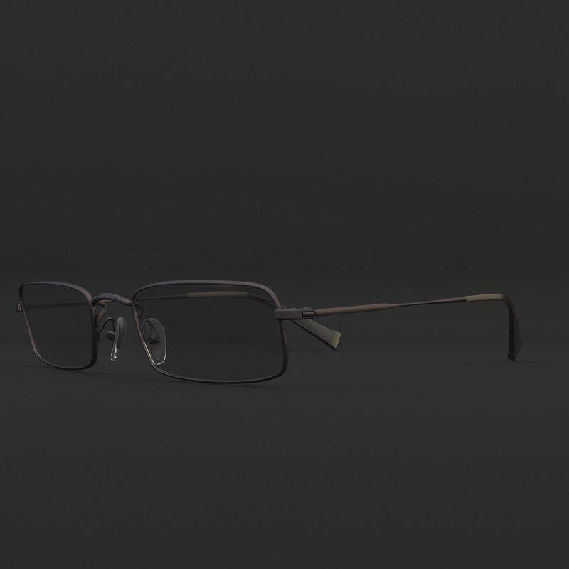 3d model glasses john varvatos