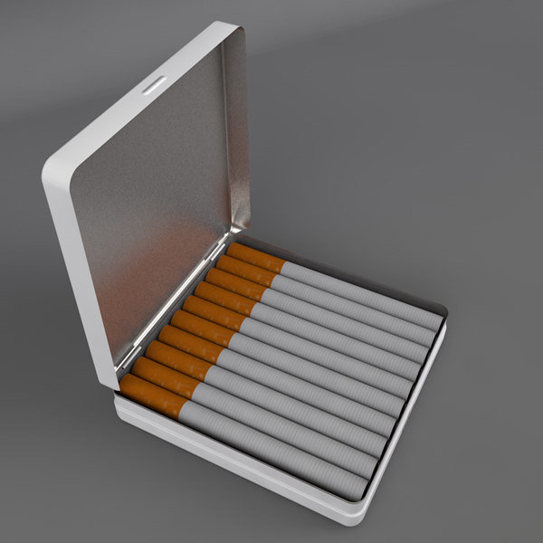 3d tin cigarette box model