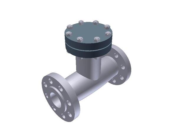 3d check omb valve model