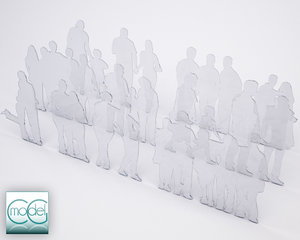 3d silhouette people