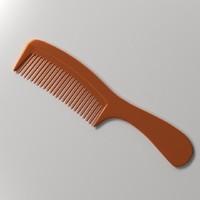 3d model hair comb