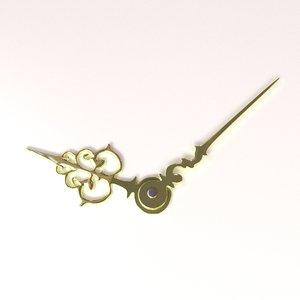 clock hands 3d model